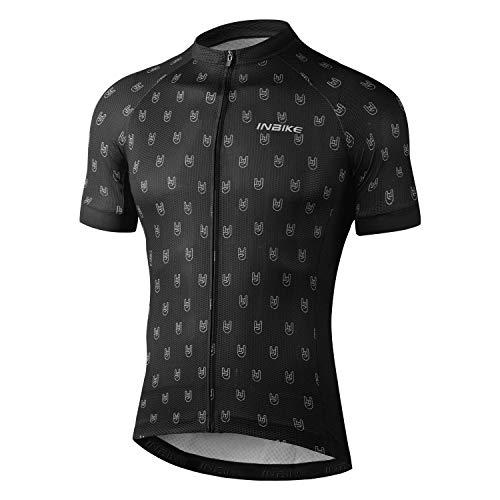INBIKE Maillot Ciclismo Hombre Verano Camiseta Bicicleta Manga Corta 100% Poliéster con Tiras...*