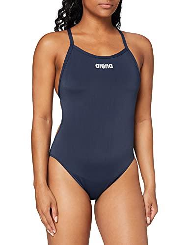 ARENA W High Bañador Deportivo Mujer Solid Light Tech Alto, Navy-White, 40