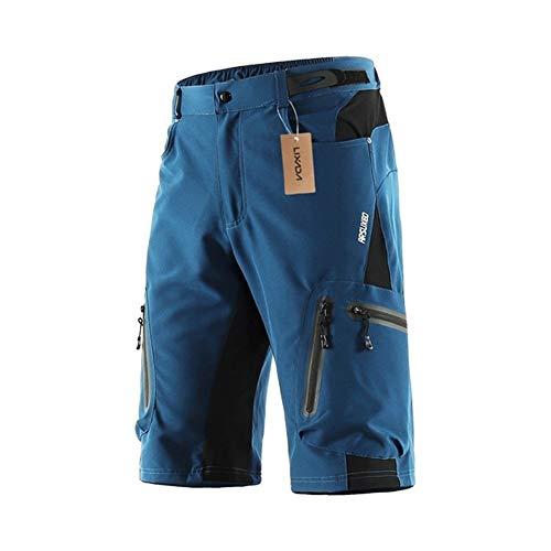 XL-XXL de los hombres de poliéster Pantalones cortos de ciclista deporte al aire libre de descenso Pantalones cortos transpirables Loose Fit pantalones de bicicleta MTB culots para bici hombre 661
