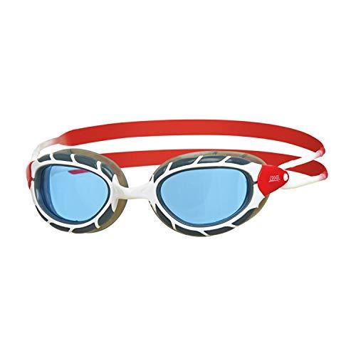 Zoggs Predator Gafas de natación, Unisex Adulto, Blanco/Rojo/Tinte, Small