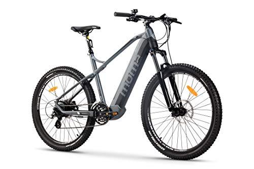Moma Bikes Bicicleta Eléctrica E-MTB 27.5', Shimano 24vel, frenos hidráulicos, batería Litio 48V 13Ah (624Wh)
