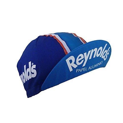 Apis Reynolds - Gorra para Bicicleta, diseño Retro, Color Azul
