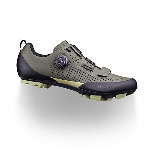 Fizik X5 Terra - Zapatillas de Ciclismo para Hombre, Hombre, Zapatillas de Ciclismo, F8436450, Verde Militar Tangy Verde, 13.5 UK