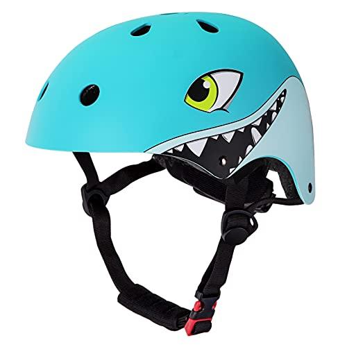 YGJT Casco Infantil Ajustable, Casco Bicicleta Niños de 3-6 y 7-13 Años de Seguridad para Proteger la Cabeza, para Bicicleta/Patineta/Scooter/Patinaje/Rodillo Blading