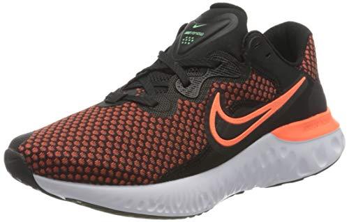Nike Renew Run 2, Zapatillas para Correr Hombre, Black Hyper Crimson Chile Red Green Glow White Dk...*