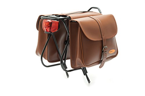 Cicli Bonin Eco Leather Looking Saddle Bolsas, Unisex, marrón, Talla única