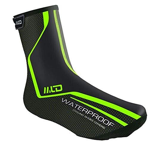 pnxq88 Cubrezapatos Reutilizables, Cubrezapatos Antideslizantes para Lluvia, Cubrebotas de Cuero PU Impermeables y Resistentes al Viento para Bicicleta de Ciclismo al Aire Libre