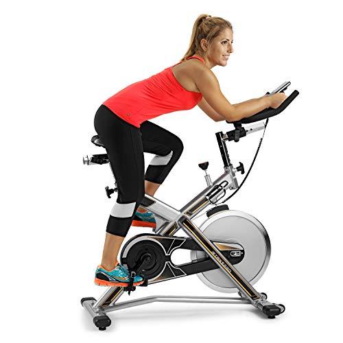 BH Fitness MKT Jetbike Pro Bicicleta Ciclismo Indoor, Unisex, Acero con Detalles Negros y Naranjas, Talla Única