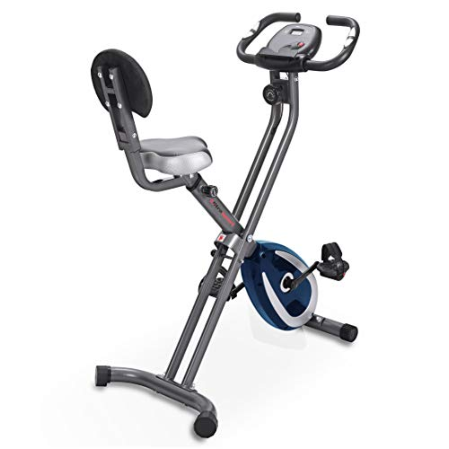 Ultrasport F-Bike 300B Bicicleta estática Plegable, Ordenador y App, con Respaldo & App, Unisex,...*