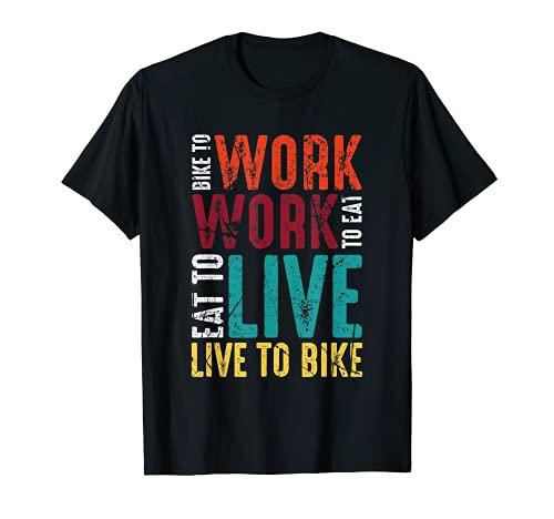 Hombre Live To Bike Funny Ciclismo Trail Ciclismo Ciclocross Ciclismo Camiseta