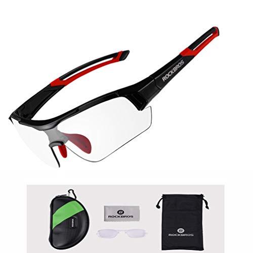 ROCKBROS Gafas de Sol Fotocromáticas Lentes Transparentes con Protección UV400 Ultraligero para...*