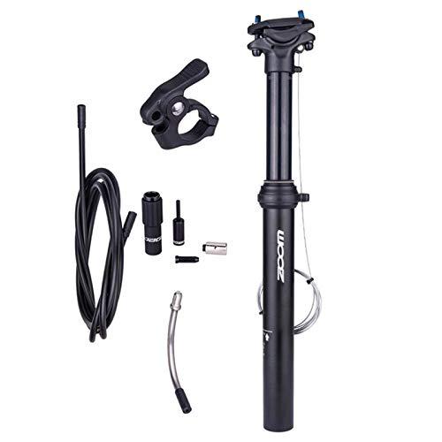 Sharplace Cable Externo de La Tija del Sillín Telescópico de La Tija del Sillín de La Bicicleta Ligera - Negro, 30,9 mm