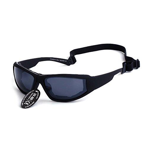 Supertrip Sport Gafas de sol motocicleta gafas ciclismo Gafas Gafas de esquí color negro para deporte y ocio