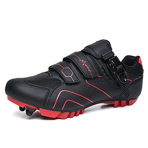 YMMONLIA Zapatillas de Bicicleta de Montaña,,Calzado de Bicicleta, Zapatos de Bicicleta Antideslizantes Transpirables para Hombres para Ciclismo de Carretera y Ciclismo de montaña