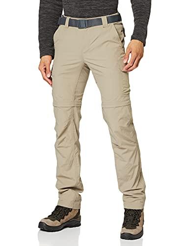 Columbia Silver Ridge II Convertible Pantalones De Senderismo, Hombre, Tusk, 34W / 32L