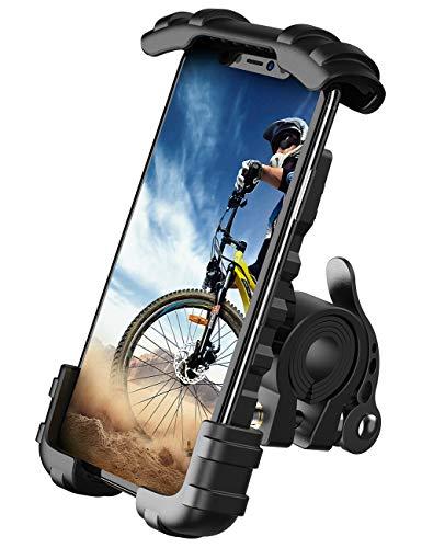 Lamicall Soporte Movil Bicicleta, Soporte Motocicleta - Rotación 360° Soporte Manillar para iPhone 12 Mini, 12 Pro Max, 11 Pro, XS Max, XR, X, 8, 7, 6S, Samsung S10 S9 S8, Huawei, 4.7-6.8' Smartphones