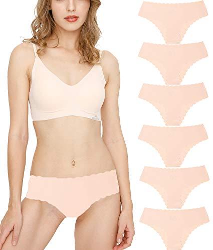 Donpapa Bragas para Mujer Pack sin Costuras Invisible Braguitas Microfibra Rayas Brief Bikini...*