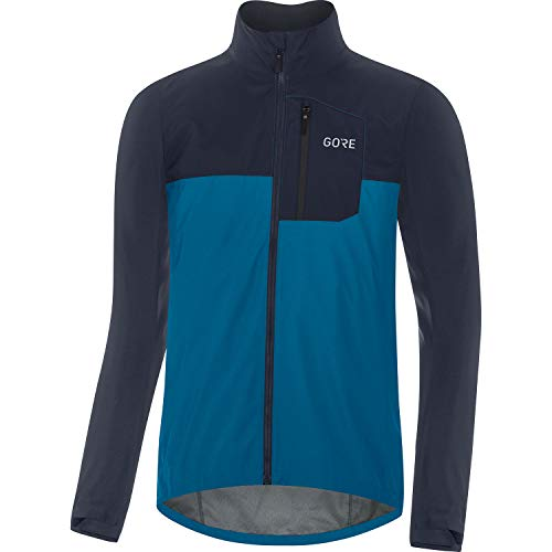 GORE WEAR Chaqueta de ciclismo Spirit para hombre, GORE-TEX INFINIUM, M, Azul cobalto/Azul marino
