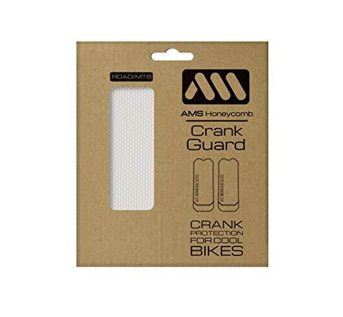 All Mountain Style AMSFG6CLSV Protector Pedales – Protege Las manivelas de tu Bicicleta de posibles rayadas y Golpes, Unisex Adulto, Transparente/Plata, One Size