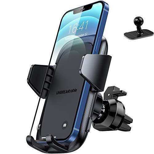 UNBREAKcable Soporte Movil Coche [2 en 1], Soporte Móvil Teléfono para Salida de Ventilación del...*
