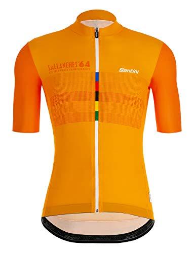 Santini UCI Eyes - Camiseta de Manga Corta para Hombre, Hombre, RE94075SEYES, Multicolor, XX-Large