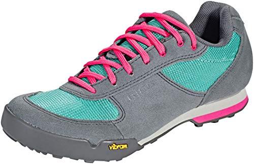 Giro Petra VR MTB, Zapatos de Bicicleta de montaña Mujer, Multicolor (Turquoise/Bright Pin 000), 37 EU