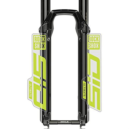 S-I-D Calcomanías Bicicleta de montaña Frente Fork Pegatinas MTB Bicicleta Frente Tenedor Calcomanías Pegatinas (Color : Cannondale Green(cle)