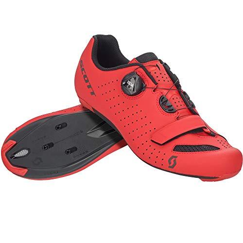 SCOTT Zapatilla Carretera Comp Boa Ciclismo, Hombre, Matt Red/Black, 40