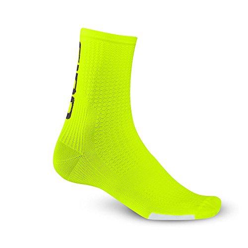 Giro Función Calcetines HRC Team, Todo el año, Unisex, Color Amarillo - Amarillo, tamaño Medium*