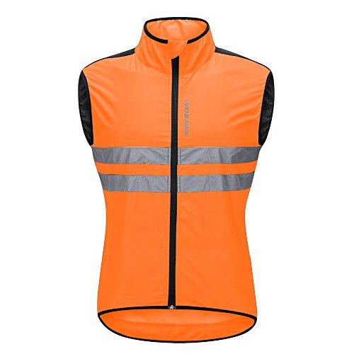 WOSAWE Hombres Ropa Ciclismo, Transpirable Chaqueta de Ciclismo Cortavientos Alta Visivilidad...*