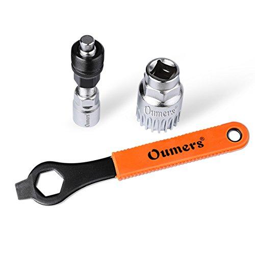 Oumers Extractor de manivela de Bicicleta,Desmontador de Brazo y Soporte Inferior con Llave Inglesa/Llave de 16 mm. Kit de Herramientas de reparación de Bicicletas Profesional