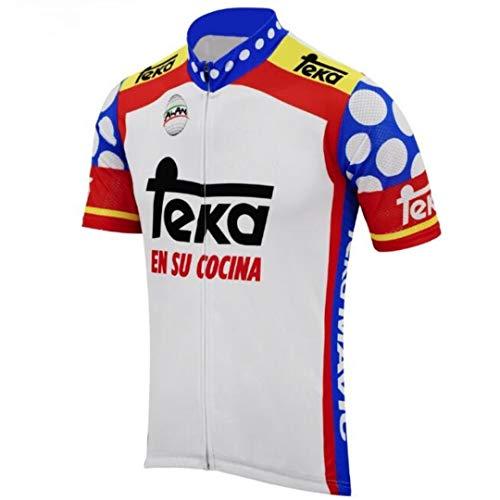 Divertido Ciclismo Jersey Hombres Ciclismo Jersey Francia España Bicicleta Retro Azul Ropa Ciclismo...*