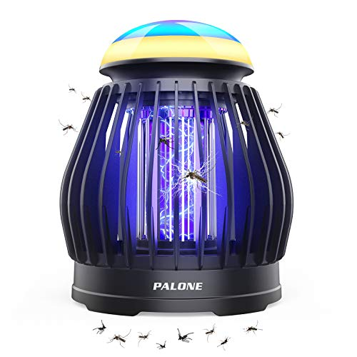 Lámpara Antimosquitos Eléctrico, PALONE LED Mosquito Lámpara Trampa, USB Recargable 2 en 1 ata mosquitos eléctrico, para Hogar, Cámping