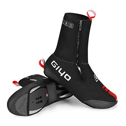 GIYO Cubrezapatillas de Ciclismo Invierno calentito Impermeables cubrebotas de Bici Comodos Ligero Protección térmica