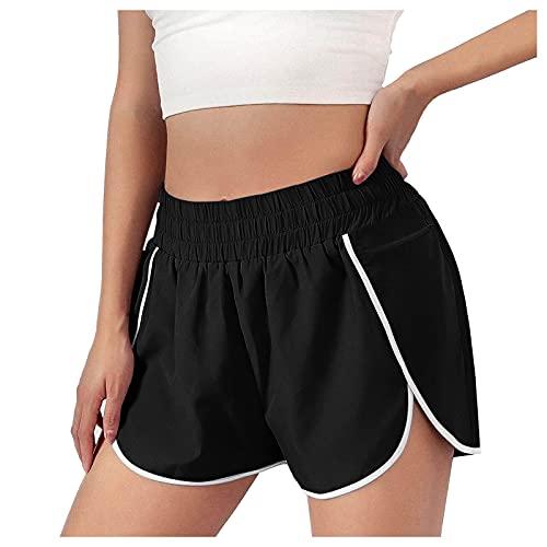 Sunggoko Pantalones cortos de deporte para mujer, de secado rápido, ligeros, para fitness, yoga,...*