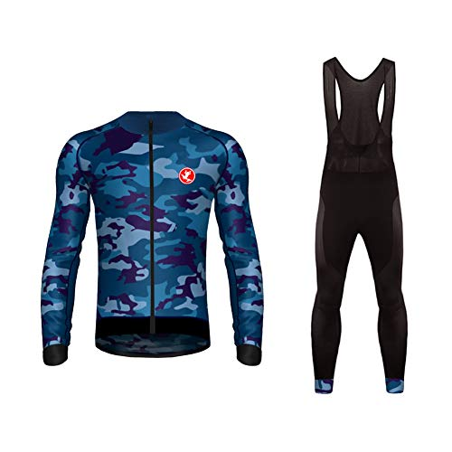 UGLY FROG Nuevo De Invierno MTB Mantener Caliente Bici Manga Larga Maillot Ciclismo Hombre Bodies +Long Bib Pant with Gel Pad Winter Style