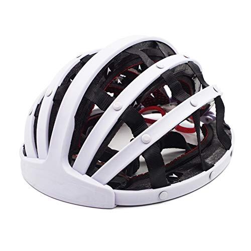 Casco Bicicleta ZWRY Casco Plegable Ultraligero para Hombres, Mujeres, Ciudad, Casco, Ciclismo, Carretera, Bicicleta de montaña, Bicicleta, Casco, L, Blanco 3