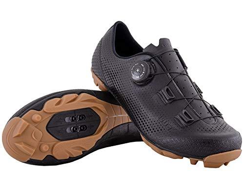 LUCK Limited | Zapatillas Ciclismo MTB Hombre Mujer Niños | Zapatos MTB Ciclismo Montaña BTT | Suela Carbono | Cierre Rotativo | Calzado Bicicleta MTB (Negro, Numeric_45)