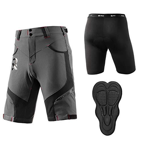ROCKBROS Pantalones Cortos con 4D Acolchado y Ropa Interior para Ciclismo Bicicleta MTB Deportes...*