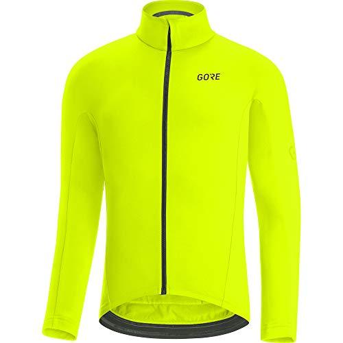GORE WEAR Maillot térmico de ciclismo para hombre, C3, L, Amarillo neón*
