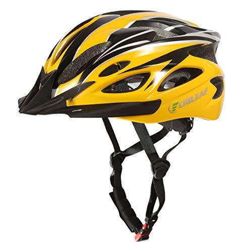 CHILEAF Casco de Bicicleta Certificado CE Casco de Bicicleta para Hombre con Visera Desmontable...*