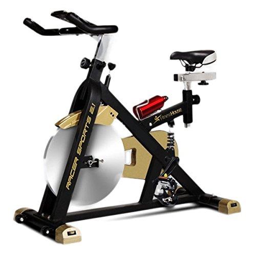 Fitness House Racer Sports Gold Bicicleta de Ciclismo Indoor, Adultos Unisex, Negro/Dorado, Talla Única