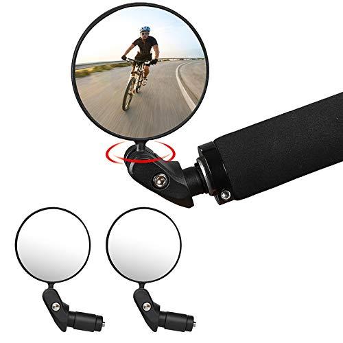 LEEWENYAN Espejo Retrovisor de Bicicleta, 360° Adjustable Bicicleta Manillar Espejor Rotativo...*
