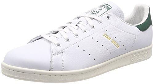 adidas Stan Smith, Zapatillas Hombre, Blanco (Footwear White/Footwear White/Collegiate Green 0), 42 EU