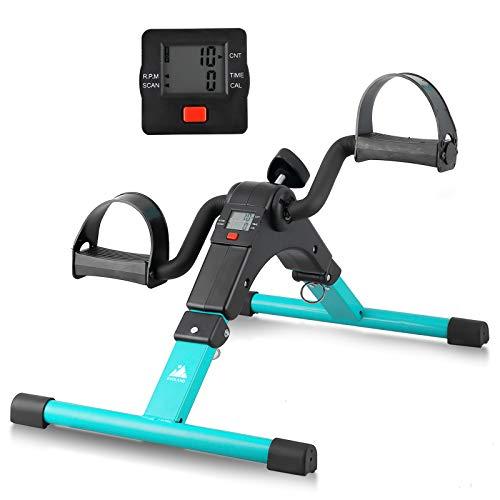EVOLAND Pedales Estaticos, Mini Bicicleta Estática Plegable, Pedaleador Plegable LCD Pantalla,...*