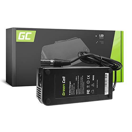 Green Cell® Cargador (42V 4A 168W) para Haibike KTM Kalkhoff Flyer Cube Focus Giant Bergamont Ghost Trek Gazelle Winora Specialized 36V Ebike Bicicleta Eléctrica Batería (Conector XLR 3 Pin)