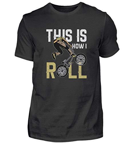 Camiseta para hombre BMX, bicicleta de cross y bicicleta, divertido frase en alemán Negro XXXL