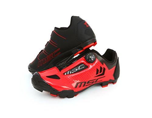 Msc Bikes Aero XC Zapatillas, Unisex Adulto, Rojo, 38