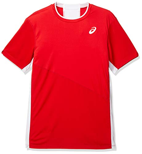 Asics Club M SS tee Camiseta, Hombre, Classic Red, L