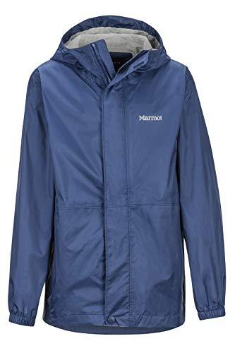 Marmot Boy's Precip Eco Jacket Chubasqueros Niña, Chaqueta Impermeable, A Prueba De Viento, Impermeable, Transpirable, Niños, Arctic Navy, S